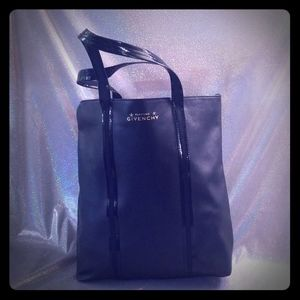 Givenchy Black Pleather Tote Bag